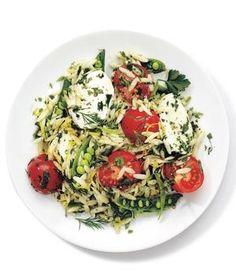 Mozzarella, Orzo, and Snap Pea Salad recipe