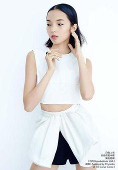 Xiao Wen Ju for Elle China, February 2014.