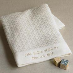 cream cashmere baby blanket