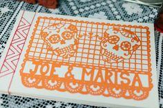 papel picado guest book // photo by Kate Romenesko // http://ruffledblog.com/chicago-day-dead-wedding