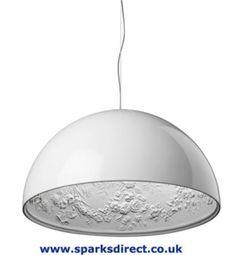 Award Winning White Flos Skygarden 1 Large Suspension Ceiling Lamp by Marcel Wanders