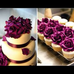 #wedding #purple #flowers #cake #weddingcake - @Nancy Klevin- #webstagram