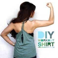 T-shirt ---> Workout shirt. fun t shirt ideas, diy shirt, workout shirts, old shirts, craft gawker, running shirts, diy projects, bare top, old t shirts