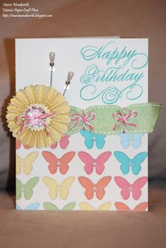 card by Maria Woodworth using CTMH Dotty For You paper... (change sentiment)
