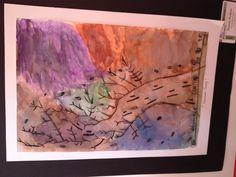 "My 2nd grader's painting of ""Hurricane Sandy"" Beautiful!"
