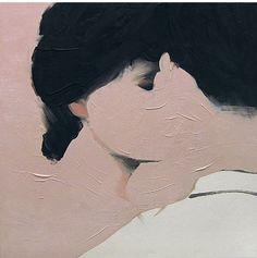 a kiss, oil paintings, art paintings, jarekpuczel, the kiss