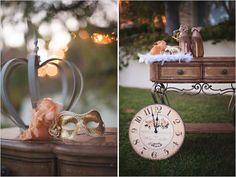 vintage clocks, balls, wedding anniversary, cinderella theme, cinderella props