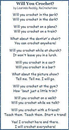 Crochet everywhere!!!