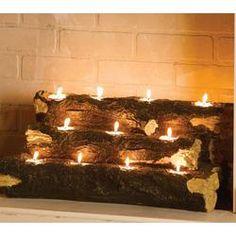 Tealight Fireplace Logs