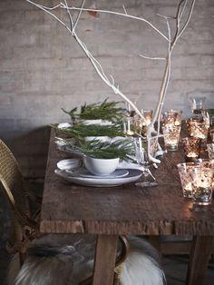 cozy Christmas table setting