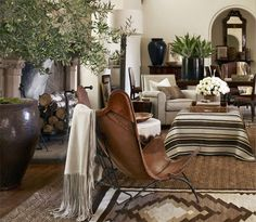 great new Ralph room decor, interior, ralph lauren, living rooms, southwestern style, living room designs, hous, homes, leather chairs