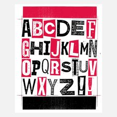 ABC Fab Exclusive Red 16x20  by Print Mafia
