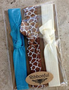Ribbonful Elastic Headbands Set of 3 Giraffe Print by Ribbonful