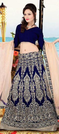 143140: #lehenga #embroidery #blue #designer #bridal #wedding