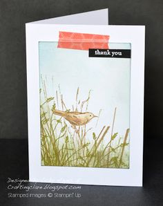 Stampin' Up ideas and supplies from Vicky at Crafting Clare's Paper Moments: Simply sketched with a bit of washi