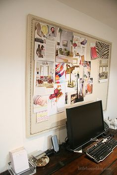 burlap, office organization, little houses, the office, pin boards, bulletin boards, inspiration boards, cork boards, girl rooms