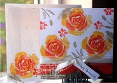 Roses in Winter by Marian Garcia, StudioMbyMarian (you can use SU current rose stamp set Stippled Blossoms)