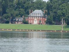Westover plantation on the James River, Virginia.