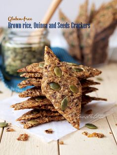 Gluten Free, Brown Rice, Quinoa, Sesame Seeds, Flaxseeds, Crackers, Whole Grain, Eggless, Flourless, Sugar Free, Dairy Free, Toddlers, Kids-friendly