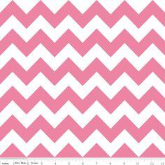 Riley Blake Designs House Designer - Chevron - Chevron in Hot Pink