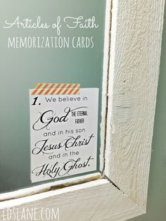 FREE PRINTABLE: Articles of Faith Memorization Cards - from Kari at LDS Lane - tofw.com