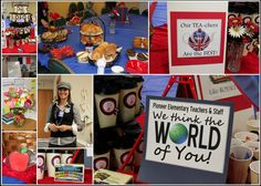 We think the world of you! Around the world theme