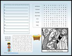 printables, free cathol, christma activ, religi, printabl onlin, christmas, placemat printabl, cathol printabl