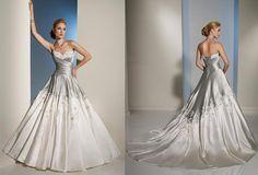 Elegant Silver Wedding Dress! ballgown