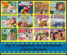 Magazines for Elementary School Libraries {top 12}. Love to have magazines for students to read in the classroom.