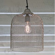 Metal Caged Pendant