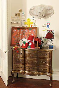 elephants, animals, animal heads, painting furniture, copper, dresser, anthropologie, framed art, design elements