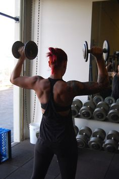 great back & arms!