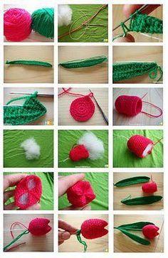 crochet flowers, pattern, cancer awareness, tulip, bouquets, aunts, cousins, blog, amigurumi