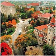 The lovely KU campus in Lawrence.