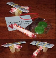 Creative Charity: Airplane Baby Shower Favors
