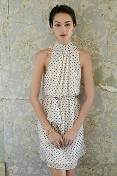 Polka dots are always in!! Deja Dot Dress #anthropologie