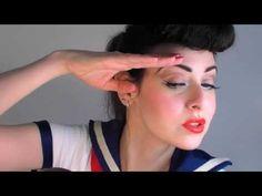 PIN UP GIRL MAKEUP TUTORIAL, KATY PERRY STYLE / 50's NAVY SAILOR