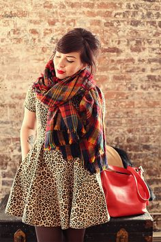 leopard and plaid