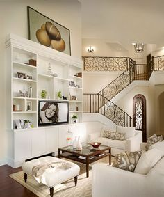 beach house living room/ stairs!