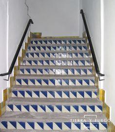 Blue & White Harlequin Talavera Mexican Tile