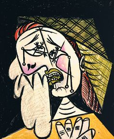 Pablo Picasso (1881-1973), Weeping Woman With Handkerchief, 1937, Spanish. Oil on canvas. 54.3×46.0 cm. Courtesy of the Los Angeles County Museum of Art (http://www.lacma.org)