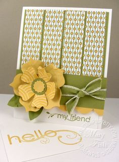 Stampin' Up!  Fun Flowers die  Mary Fish  stampinpretty
