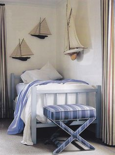 Boats and nautical ideas are always great for boys' rooms. #boats #nautical #boy #toddler #room #pinparty