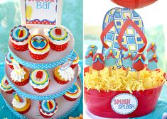 poolparty cupcakes