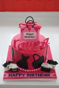 Shopping Theme Cake
