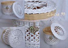 white newspaper basket