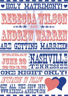 Hatch Show Print Wedding Announcement