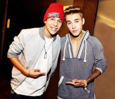 Austin Mahone & Justin Bieber<3