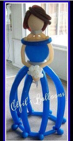 Princess balloon sculpture #princess #balloon #sculpture #twist #art #character #decor