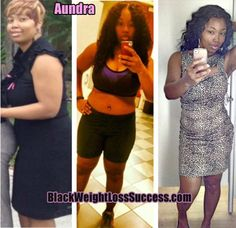 Aundra lost 45 pounds | Black Weight Loss Success